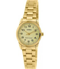 reloj formal dorado casio