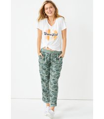 maurices womens camo weekender pants green