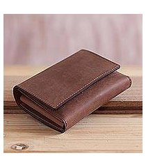 leather passport wallet, 'travel in style' (peru)