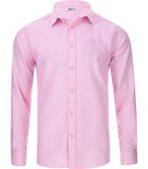 camisa manga larga unicolor color rosado, talla xl