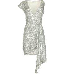 pailletten jurk yule  zilver