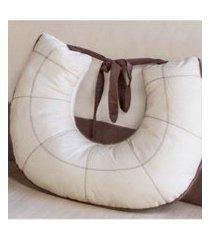 almofada amamentaçáo artesanal bege