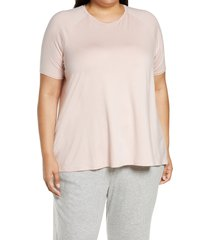 plus size women's eileen fisher jersey tunic top, size 3x - pink