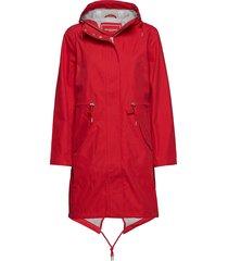 raincoat parka lange jas jas rood ilse jacobsen