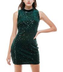 emerald sundae juniors' velvet & sequin bodycon dress
