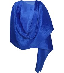 pleats please issey miyake pleated wrapped all-over scarf