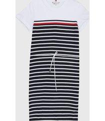 vestido blanco-azul-rojo tommy hilfiger