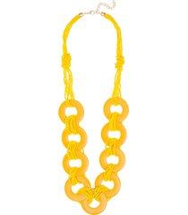 maxi colares le briju maxi colares amarelo