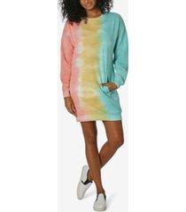 ultra flirt juniors' tie-dyed sweatshirt dress
