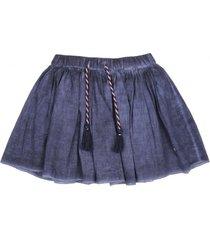 falda natural denim azul ficcus