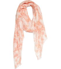 women's treasure & bond relaxed scarf, size one size - coral