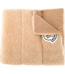 moncler quilted virgin wool scarf - neutrals