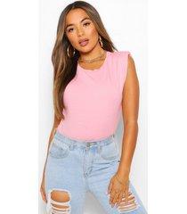 petite shoulder pad t-shirt, rose