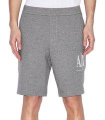 ax armani exchange men's icon logo embroidered french terry shorts