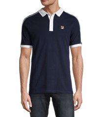 fila men's klein regular-fit short sleeve polo - white - size s