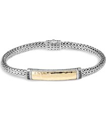 'classic chain' sapphire silver yellow gold bracelet