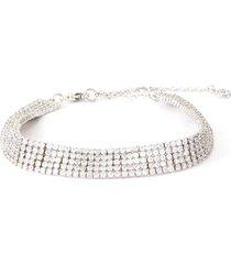 cubic zirconia five row flexi tennis bracelet