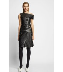 proenza schouler one shoulder leather dress /black 6