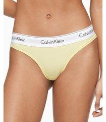 calvin klein women's modern cotton thong underwear f3786