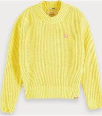 scotch & soda crocheted chenille sweater