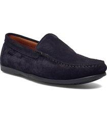plain driving loafer sde loafers låga skor blå marstrand