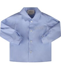 gucci light blue babyboy shirt
