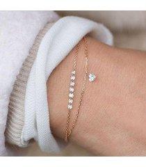 braccialetti di cristallo nuziali di cerimonia nuziale nuziale a più strati dei braccialetti delle donne di fascino del cuore il migliore regalo