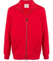 kent & curwen full zip sweater - red
