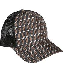 dsquared2 mesh panel printed cap