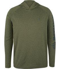 wolverine men's sun-stop pullover hoody olive heather, size xxl