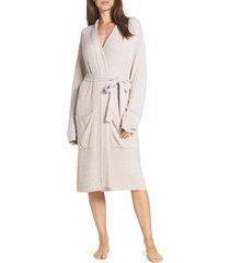 women's barefoot dreams cozychic(tm) ribbed robe, size large/x-large - pink
