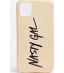 womens on brand iphone 11 phone case - stone