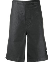 marcelo burlon county of milan relaxed-fit logo patch shorts - black