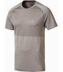 evoknit basic t-shirt voor heren, grijs/aucun, maat l   puma