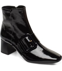 mila patent nappa boot shoes boots ankle boots ankle boot - heel svart flattered