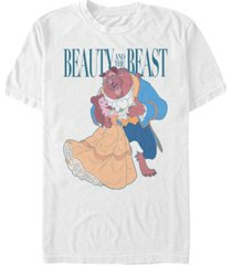 disney men's beauty and the beast classic dance, short sleeve t-shirt