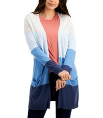 style & co open-front colorblocked cardigan, created for macy's