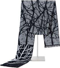 uomo sciarpa invernale lunga a 180cm calda in viscose con stampa di albero