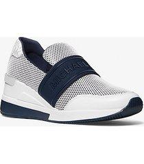 mk sneaker vargas in mesh con logo - navy (blu) - michael kors