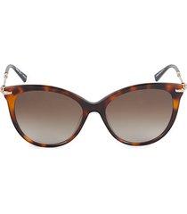56mm round gradient sunglasses