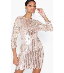u collection sequins midi dress paljettklänningar