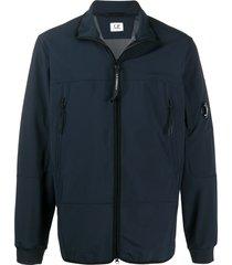 c.p. company high collar side pocket jacket - blue