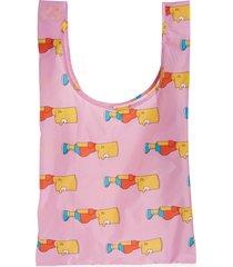 baggu the simpsons standard baggu ripstop nylon tote - pink