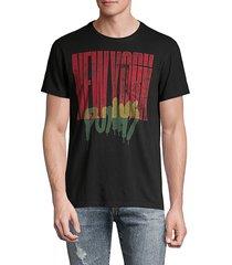 john varvatos men's regular-fit new york punk pocket tee - black - size s