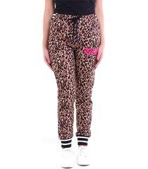 leopard printed knitted broek