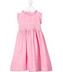 mariella ferrari ruffled shirt dress - pink
