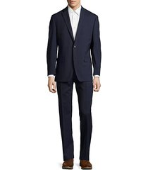 ultraflex slim-fit windowpane wool suit