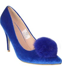 tacones stilettos azul wanted michi h