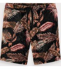 scotch & soda printed velour shorts