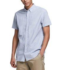 jack & jones men's classic linen short sleeve shirt